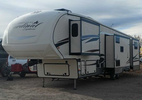 NEW 2018 Forest River Cardinal Explorer 383BH Fifthwheel Stock