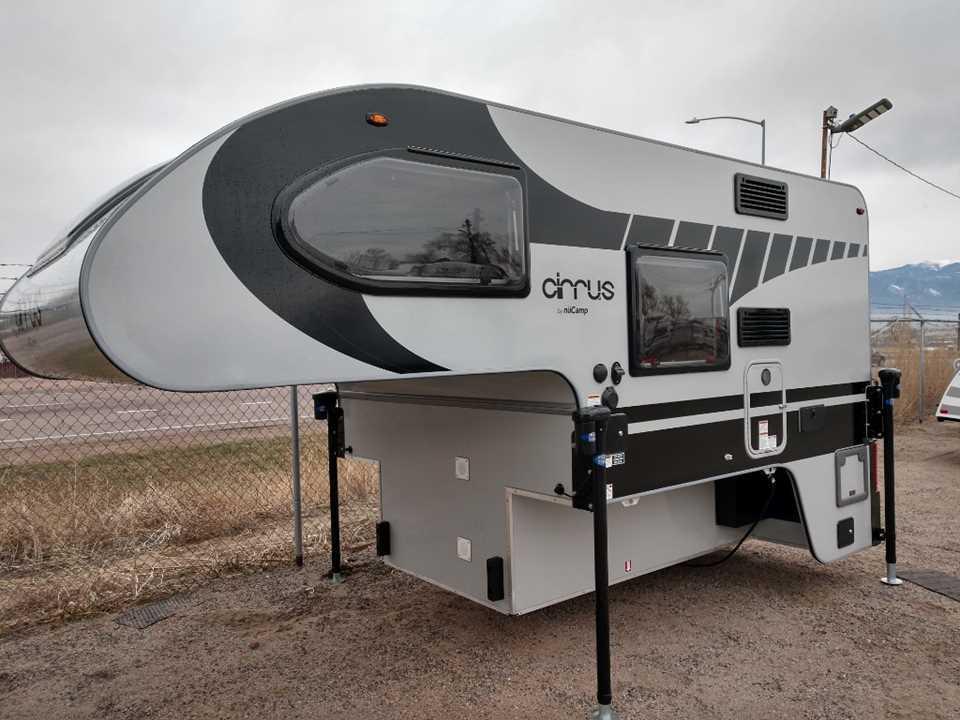 New 2020 Pleasant Valley Cirrus 720 Cab Over Camper Stock